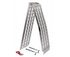Aluminium oprijplaat 275 cm + korte steunpoten extra sterk, breed en lang + inklapbaar