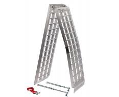 Aluminium oprijplaat 275 cm + lange steunpoten extra sterk, breed en lang + inklapbaar