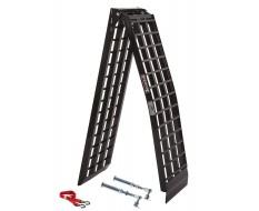 Aluminium oprijplaat 275 cm + korte steunpoten extra sterk, breed en lang + inklapbaar - zwart