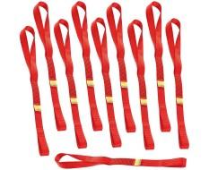 Set van 10 stuks spanbanden 60 cm met dubbele lus / sjorband zonder ijzeren haken