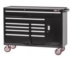 Extra grote professionele gereedschapswagen 10 laden met quick lock - zwart