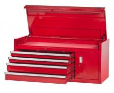 Extra grote professionele gereedschapskist 4 laden met quick lock - rood