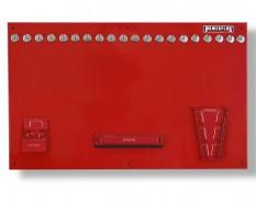 Gereedschapsbord rood 100 x 61 cm inclusief magnetische haken en houders - Gereedschapbord.