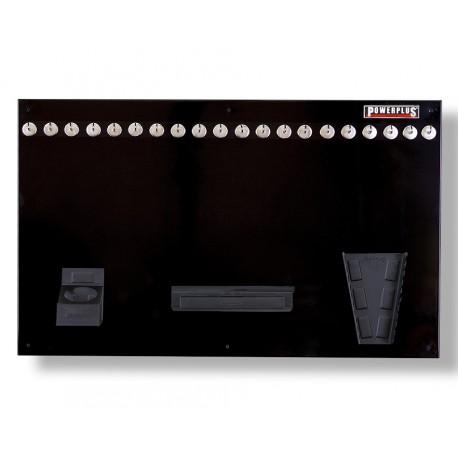 Gereedschapsbord zwart 100 x 61 cm inclusief magnetische haken en houders - Gereedschapbord.