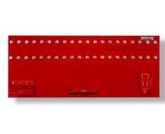Gereedschapsbord rood 150 x 61 cm inclusief magnetische haken en houders - Gereedschapbord.