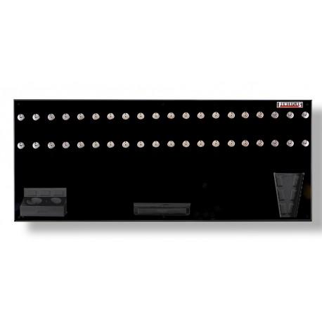 Gereedschapsbord zwart 150 x 61 cm inclusief magnetische haken en houders - Gereedschapbord.