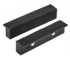 Set (2 st.) zachte bekken (kunststof met magneten) 15,5 x 3 cm. incl. groeven - voor bankschroef