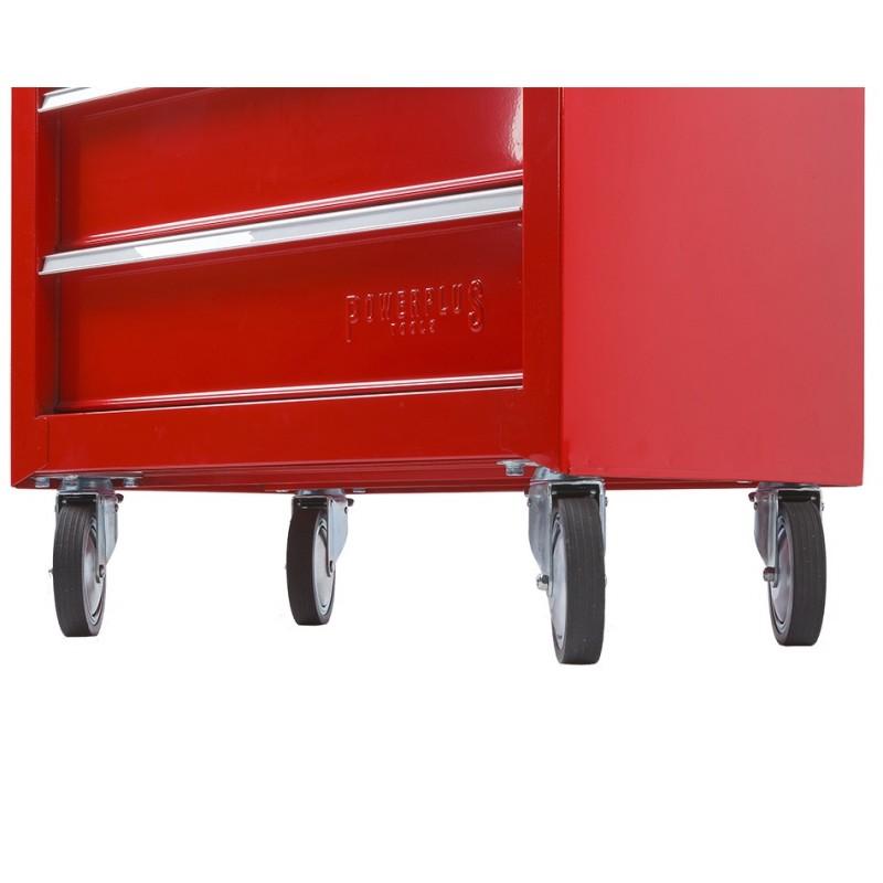 werkbank rood 200 cm met hardhouten blad en gereedschapswagen powerplustools. Black Bedroom Furniture Sets. Home Design Ideas