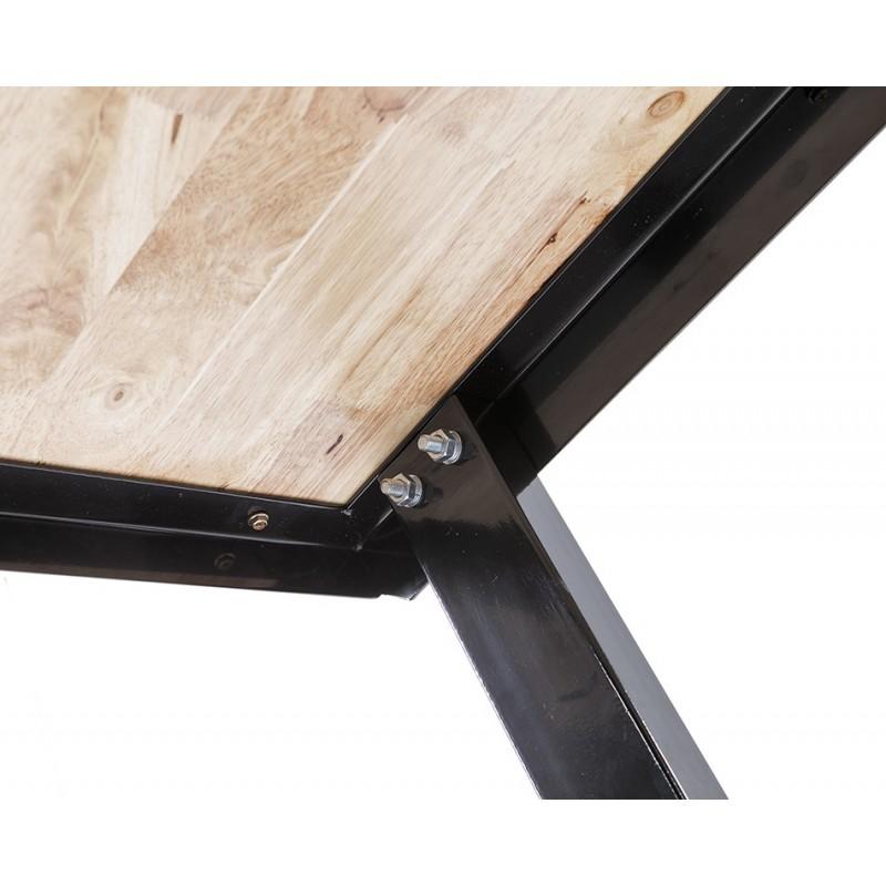 Werkbank zwart 150 cm met hardhouten blad + gereedschapsbord   Powerplustools