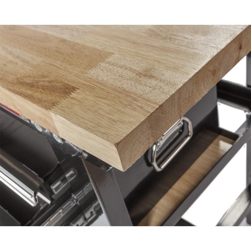 werkbank zwart 200 cm met hardhouten blad gereedschapskist en gereedschapsbord powerplustools. Black Bedroom Furniture Sets. Home Design Ideas