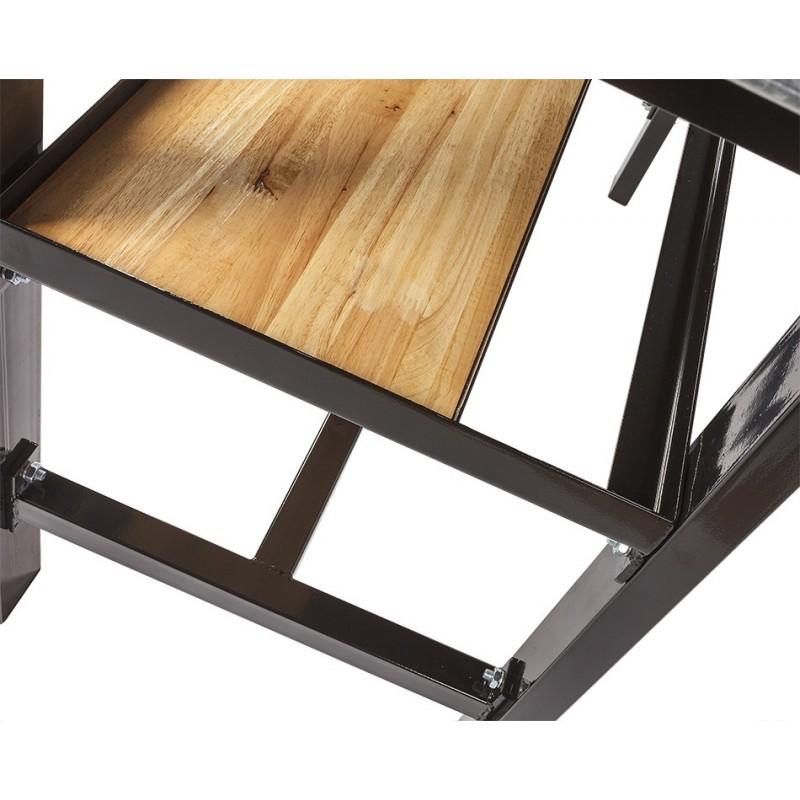 werkbank zwart 200 cm met hardhouten blad powerplustools. Black Bedroom Furniture Sets. Home Design Ideas