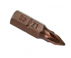 PZ1 x 25 mm Pozidriv krachtbits - 40 stuks gehard gereedschapsstaal in kunststof box - bitset - Pozidriv bitjes