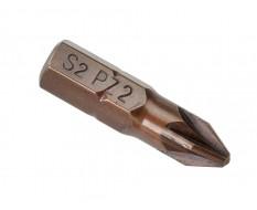 PZ2 x 25 mm Pozidriv krachtbits - 40 stuks gehard gereedschapsstaal in kunststof box - bitset - Pozidriv bitjes