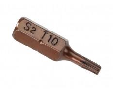 T10 x 25 mm Torx krachtbits - 40 stuks gehard gereedschapsstaal in kunststof box - bitset - Torx bitjes