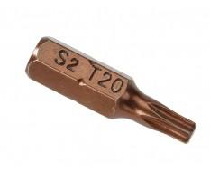 T20 x 25 mm Torx krachtbits - 40 stuks gehard gereedschapsstaal in kunststof box - bitset - Torx bitjes
