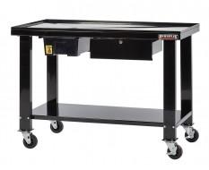 Demontagetafel, revisie- / montagetafel verrijdbaar 120 x 64 x 87 cm met olie opvangbak