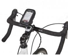 Telefoon tas – etui + stuurhouder voor fiets - mobiele telefoon - GSM 2.4 inch – stof en waterdicht 120 x 55 x 20 mm.