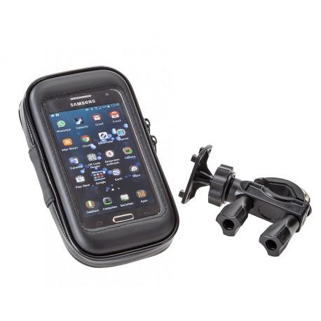 Telefoon tas – etui + stuurhouder voor iphone – smartphone - GSM - 4 inch – stof en waterdicht 135 x 70 x 23 mm.