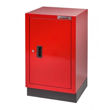 Werkplaatskast rood met zwarte voet 48 x 46 x 84,4 cm met 1 deur