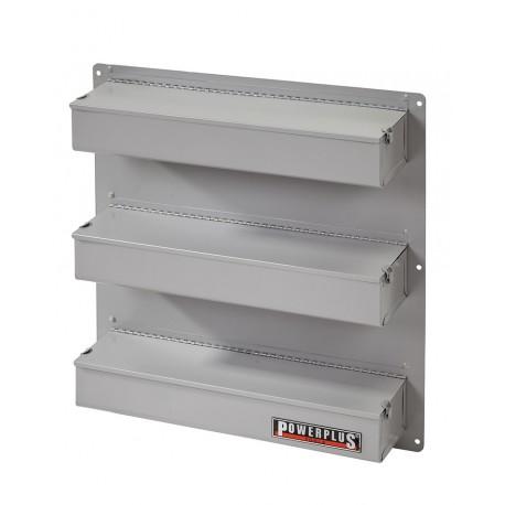 Metalen onderdelenkast / hangkast 51,5 x 55,5 cm met 3 vakken