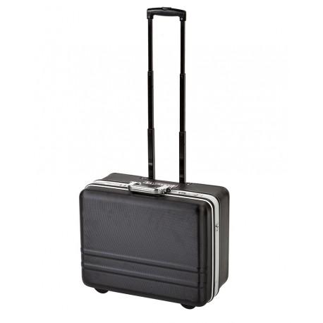 Degelijke ABS gereedschapskoffer met aluminium frame, handvat, draagriem en wielen