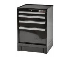 CNC gereedschapskast zwart 4 laden met rubber top - cap. per lade: 200 kg