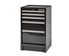 CNC gereedschapskast zwart 5 laden met rubber top - cap. per lade: 200 kg