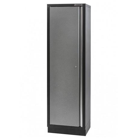 Metalen gereedschapskast / werkplaatskast 60 breed 46 diep en 200 cm hoog - 1 deur.