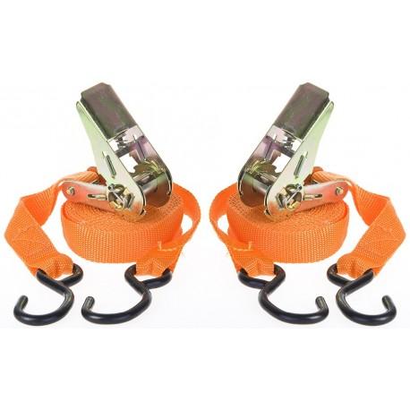 Spanbanden / sjorbandenset met ratelsysteem