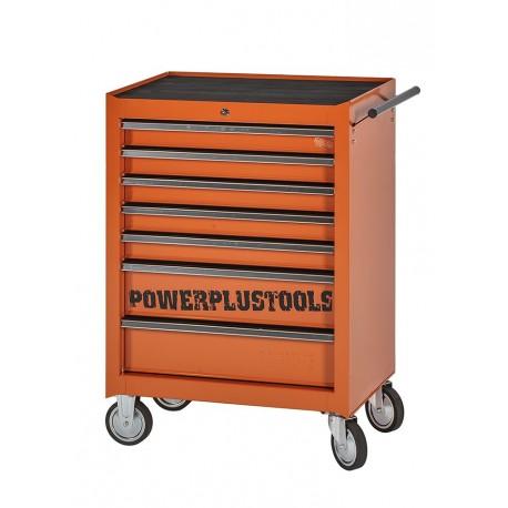 Gereedschapswagen oranje 7 laden leeg met quick lock