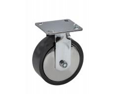 Gelagerd metalen wiel Ø 150 x 50 mm met rubberen loopvlak