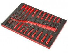 Schroevendraaierset 27 delen, Torx-, geïsoleerde schroevendraaiers en precisieschroevendraaiers - soft mat