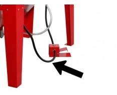 Lucht doorvoerslang tussen voetpedaal en drukmeter van cabine PP-T 0008