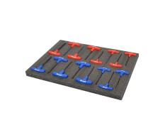 EPE foam mat type kaizen foam 40 x 57 x 3 cm. grijs/antraciet. 4 lagen