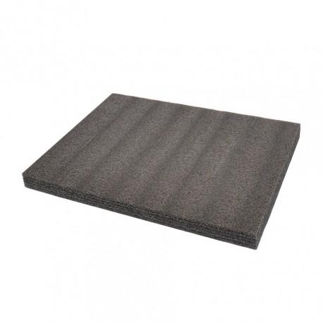 EPE foam mat type kaizen foam 57 x 43 x 3 cm. grijs/antraciet. 4 lagen