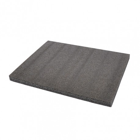 EPE foam mat type kaizen foam 57 x 43 x 4 cm. grijs/antraciet. 5 lagen