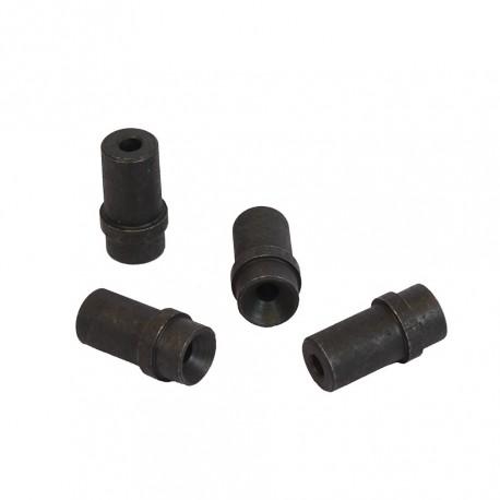 Set van 4 stalen nozzles 6 mm. voor straalpistool 0013