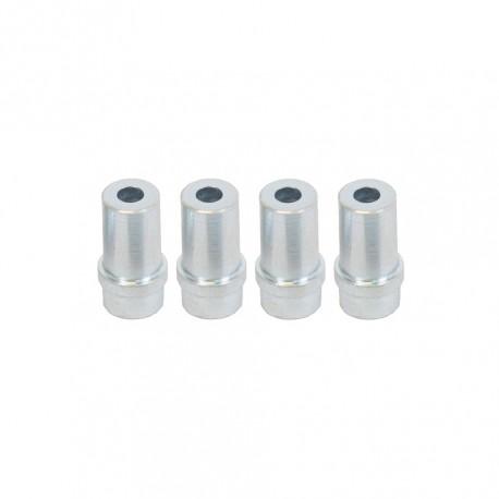 Set van 4 stalen nozzles 7 mm. voor straalpistool 0013